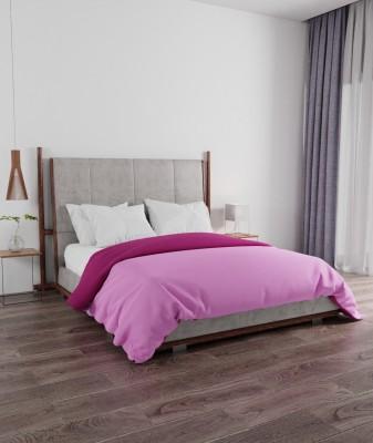 PORTICO NEW YORK Solid Double Comforter(Microfiber, Purple, Pink)