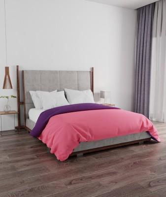 PORTICO NEW YORK Solid Double Comforter(Microfiber, Pink, Purple)