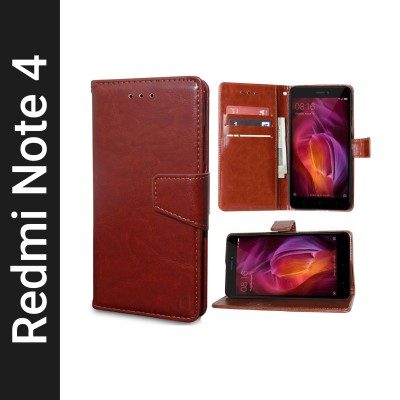 Unistuff Back Cover for Mi Redmi Note 4(Brown, Dual Protection)