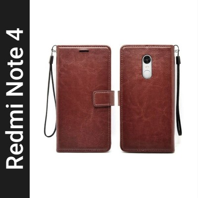 Flipkart SmartBuy Flip Cover for Mi Redmi Note 4(Brown, Hard Case)