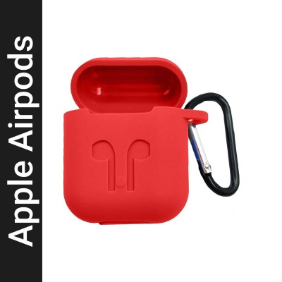 Celzo Front & Back Case for Apple AirPods(Red, Silicon)