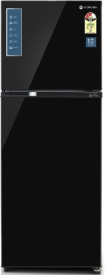 Motorola 308 L Frost Free Double Door 3 Star (2020) Refrigerator  (Black UniGlass, 310JF3MTBG)
