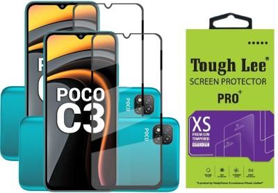 TOUGH LEE Edge To Edge Tempered Glass for Poco C3, Mi Redmi 9A, Mi Redmi 9i, Poco C31(Pack of 2)