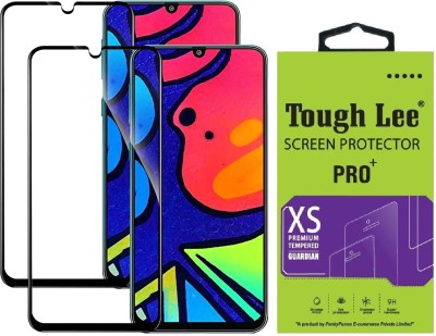 TOUGH LEE Edge To Edge Tempered Glass for Samsung Galaxy F41, Samsung Galaxy M31, Samsung Galaxy M21, Samsung Galaxy M30s, Samsung Galaxy M30, Samsung Galaxy M31 Prime, Samsung Galaxy M21 2021 Edition(Pack of 2)