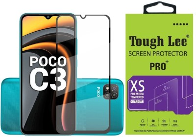 Tough Lee Edge To Edge Tempered Glass for Poco C3, Mi Redmi 9A, Mi Redmi 9i(Pack of 1)