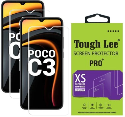 Tough Lee Tempered Glass Guard for Poco C3, Mi Redmi 9A, Mi Redmi 9i(Pack of 2)