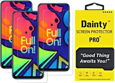Dainty Tempered Glass Guard for Samsung Galaxy F41, Samsung Galaxy M31, Samsung Galaxy M21, Samsung Galaxy M30s, Samsung Galaxy M30(Pack of 3)