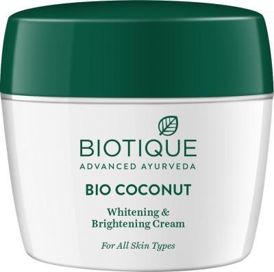 BIOTIQUE Bio Coconut Whitening & Brightening Cream 175Gm(175 g)
