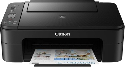 Canon PIXMA 3370 Multi function Color Printer   Black, Refillable Ink Tank