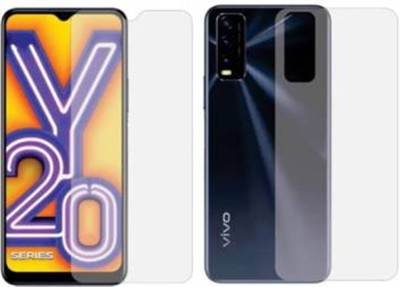 RUNEECH Front and Back Screen Guard for Vivo Y20(Pack of 2)