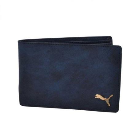 Designer Bugs Men Blue Artificial Leather Wallet