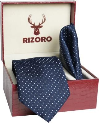 RIZORO Satin Tie Pin Set(Blue)