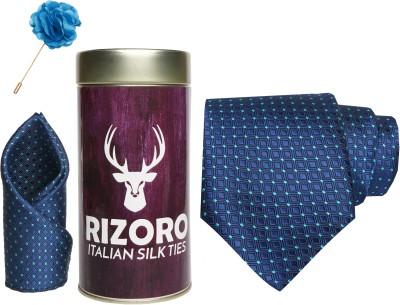 RIZORO Satin Cufflink & Tie Pin Set(Blue)