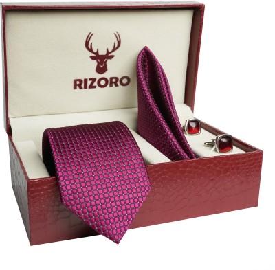 RIZORO Satin Tie & Cufflink(Purple)