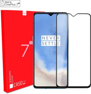 Case U Edge To Edge Tempered Glass for OnePlus 7T(Pack of 1)