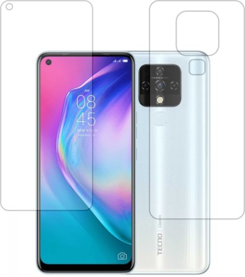 DESIBUZZ Front and Back Screen Guard for Tecno Camon 16(Pack of 2)