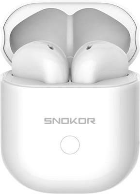SNOKOR (by Infinix) iRocker Gods XE16 Bluetooth Headset(White, True Wireless)