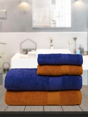 TRIDENT Cotton 460 GSM Bath Towel Set(Pack of 4)