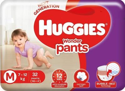 Huggies Wonder Pants diapers   M 32 Pieces Huggies Baby Diapers