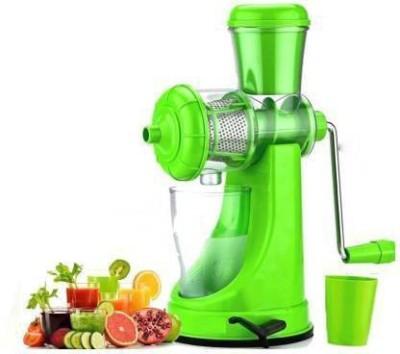 JK Creation Plastic Hand Juicer Plastic Hand Juicer Fruit and Vegetable Juicer with Steel Handle, Fruit juicer (Green Pack of...