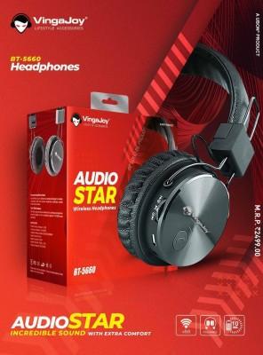 Vingajoy BT-5660 BLUETOOTH HEADPHONE HIGH PERFOMANCE Bluetooth Headset(Black, On the Ear)