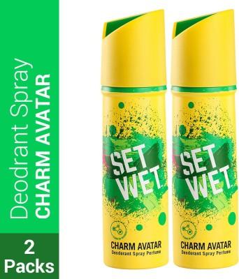 SET WET Charm Avatar Deodorant & Body Spray Perfume Deodorant Spray  -  For Men(300 ml, Pack of 2)