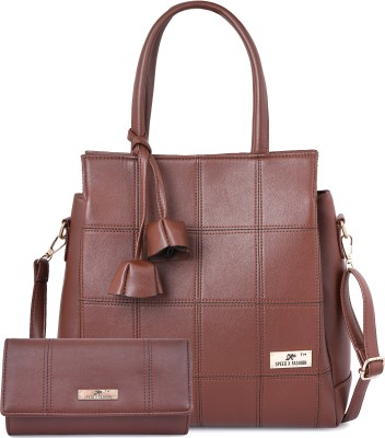 SXF SPEED X FASHION Women Brown Hand-held Bag(Pack of: 2)