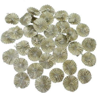 Crafto Gota Patti Flowers Appliques Patches for Embroidery Decoration and Craft Making(Silver 100 Pieces)