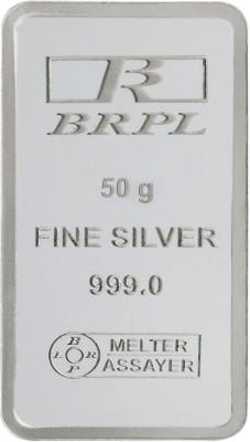 Bangalore Refinery Brpl 50 Gram Silver Bar S 999 50 g Silver Bar Bangalore Refinery Coins   Bars