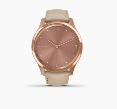 Garmin Vivomove Luxe Smartwatch(Brown Strap, Regular)