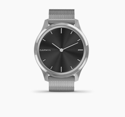 Garmin Vivomove Luxe Smartwatch(Silver Strap, Regular)