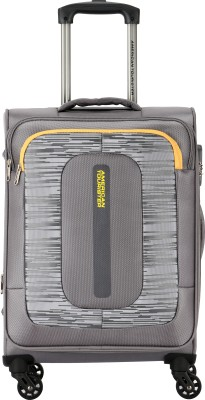 American Tourister Brisbane Spinner 68 cm Grey Expandable Check in Luggage   27 inch