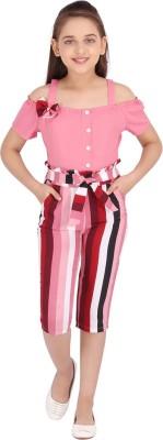 Cutecumber Striped Girls Jumpsuit
