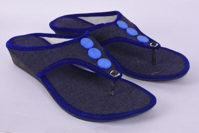 CraftNCreation Women Blue Wedges