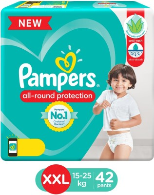 Pampers Diaper Pants with Aloe Vera Lotion - XXL(42 Pieces)