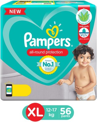 Pampers Lotion with Aloe Vera Pant Style Diapers - XL(56 Pieces)