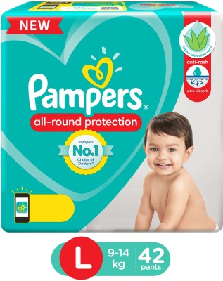 Pampers Diaper Pants Lotion with Aloe Vera - L(42 Pieces)