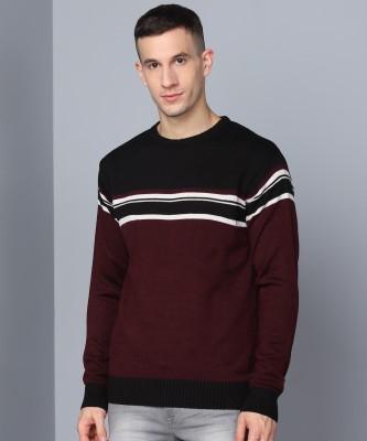 METRONAUT Striped Round Neck Casual Men Multicolor Sweater