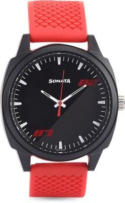 Sonata 77086PP05W Analog Watch  - For Men
