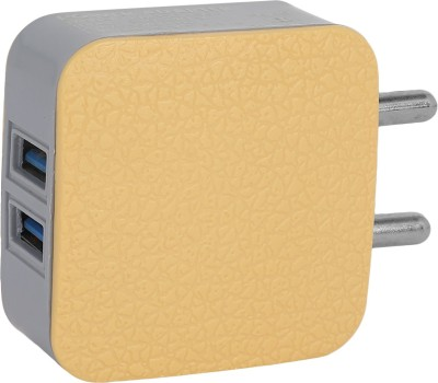 Lumik LK 3.1A 3.1 A Multiport Mobile Charger Yellow Lumik Wall Chargers