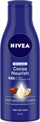 NIVEA Body Lotion for Very Dry Skin, Cocoa Nourish, with Coconut Oil & Cocoa Butter, For Men & Women(200 ml)