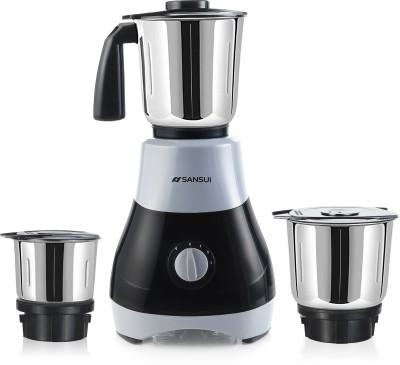 Sansui ProHome Melange 500 W Mixer Grinder(Grey, Black, 3 Jars)