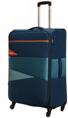 American Tourister KEPLER BLUE Expandable Cabin   Check in Luggage   21 inch