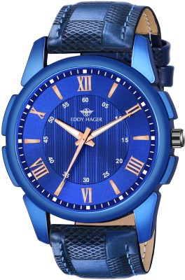 EDDY HAGER EH-167-BLUE Blue Unique New Analog Watch - For Men