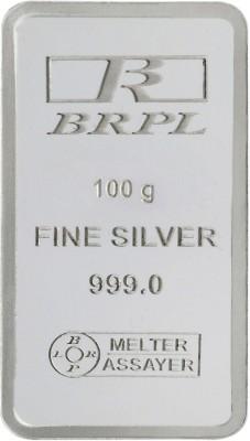 Bangalore Refinery Brpl 100 Gram Silver Bar S 999 100 g Silver Bar Bangalore Refinery Coins   Bars