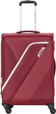 American Tourister AMT WALES SPINNER 55CM BURGNDY Expandable Cabin Luggage   21 inch American Tourister Suitcases