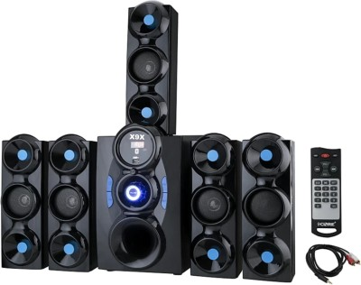 X9X HI BASS 9500W DJ SOUND SYSTEM 777 9 W Bluetooth Home Theatre(Black, 5.1 Channel)