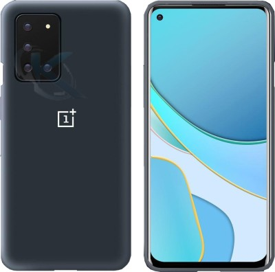 kinshu Back Cover for Oneplus 8T(Blue, Dual Protection, Silicon)