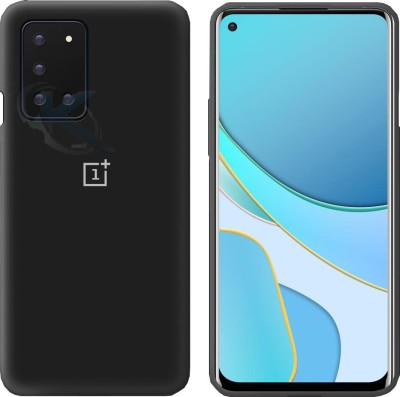 kinshu Back Cover for Oneplus 8T(Black, Dual Protection, Silicon)