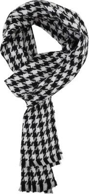 Essentiele BLACK & WHITE HOUNDSTOOTH WOOL TOUCH WINTER MUFFLER Checkered Men Muffler